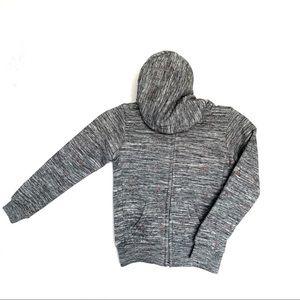 Girls gray zip up unicorn hoodie